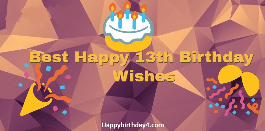 13th Birthday Wishes