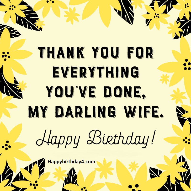 Birthday Wishes for Wife